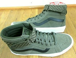 Vans Mens Sk8-Hi Reissue Strap Woven Grape Leaf Green True White Shoes S... - $88.94 CAD