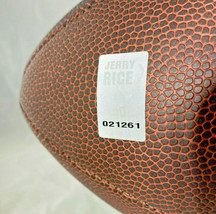 JERRY RICE / AUTOGRAPHED WILSON BRAND NFL GOLD LOGO FOOTBALL / PLAYER HOLO image 5