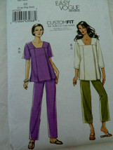 Vogue Pattern 8734 Top Tunic Pants Size Large X Large and XX Large UNCUT - $6.23
