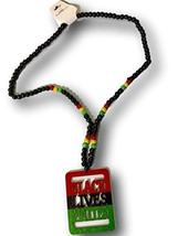 Black Lives Matter Afrocentric Beaded Necklace (Multicolor) - $19.79