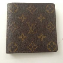 Vintage, Authentic Louis Vuitton Brown Mono Mens Wallet 4in x 4in (CA3087) - $180.45