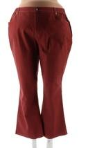 Denim Co Waist Rain Wash Stretch 5 Pocket Jeans Wine Wash P3X NEW A72889 - $22.75