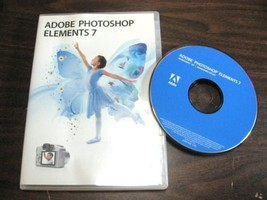Adobe Photoshop Elements 7 for Windows Mint Guaranteed Item -S1 - $29.95
