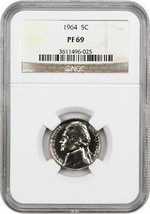 1964 5c NGC PR 69 - Jefferson Nickel - $29.10