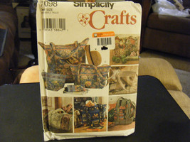 Simplicity Crafts 7098 Quilted Bags & Eyeglasses Case Pattern - $6.24