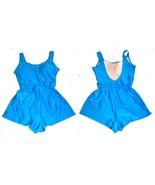 Sz 10-16 - Turquoise Blue One Piece Romper Boyshorts Swimsuit w/Tummy Co... - $40.50