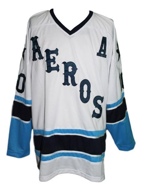 Labossiere  10 aeros retro new men hockey jersey white   1