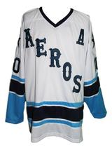 Any Name Number Houston Aeros Retro Hockey Jersey White Labossiere #10 Any Size image 1