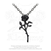 The Romance of The Black Rose Pendant by Alchemy Gothic - $17.50