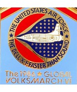 Global Volksmarch VI 1986 United States Air Force USAF The Bell X1 Medal... - $49.99