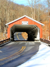 Schlicher's Covered Bridge In Winter 13 x 19 Unmatted Photograph - $35.00