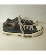 CONVERSE All Star Chuck Taylor Sneakers Lo Distressed Black White Shoes ... - $24.75