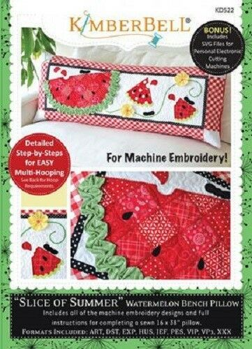 Kimberbell KD522 Slice of Summer Watermelon - Bench Pillow (ME)