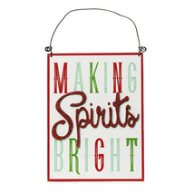Christmas Making Spirits Bright Sign: MDF, 5.75 x 7.75 inches w - $9.99