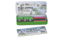 NPW-USA Finger Printing Art Set In Tin Dinosaurs Arts and Crafts Kit - $14.25