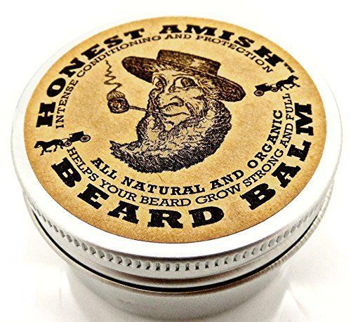 Honest Amish Natural & Organic Beard Balm Leave In Conditioner Vegan Friendly