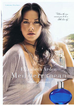2007 Catherine Zeta-Jones Elizabeth Arden Mediterranean Perfume Print Ad... - $9.99