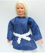 Dressed Lady Doll 0111 Blue Top White Pants Caco Flexible Dollhouse Mini... - $33.95