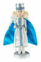 Clever Creations Snow Queen Nutcracker   Glittery Silver and Blue Holdin... - $15.03