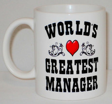 World's Greatest Manager Mug Can Personalise Great Office Work Line Section Gift image 1