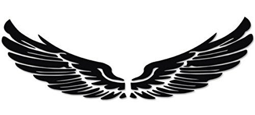 Set of 2 Wings Family Car Stickers Unique Design Car Sticker Black