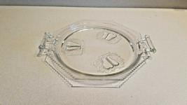 "Vintage Clear Glass Plate/Platter 12 1/4"" Fruit Pattern w/Handles - $9.85"