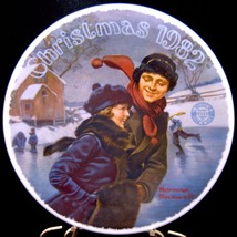 Norman Rockwell Christmas Courtship Collector Plate 8 1/4 Knowles 1982 I... - $12.86