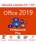 MICROSOFT OFFICE 2019 PROFESSIONAL PLUS 32/64 BIT PRODUCT KEY AND DOWNLOAD - $16.89
