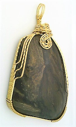 Primary image for Chert Brass Wire Wrap Pendant 29