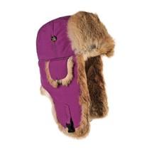 Mad Bomber Original Balaclavas Headwear, Wine with Brown Rabbit Fur, Large - $903,66 MXN