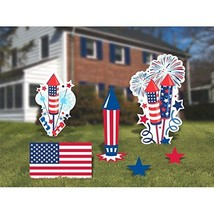 amscan Patriotic Fourth of July Party Assorted Corrugate Yard Sign Decor... - $30.63
