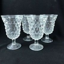 """Set Of 4 Vintage Fostoria American Clear #2056 Low Water Goblets 5 1/2"""" - $32.73"""