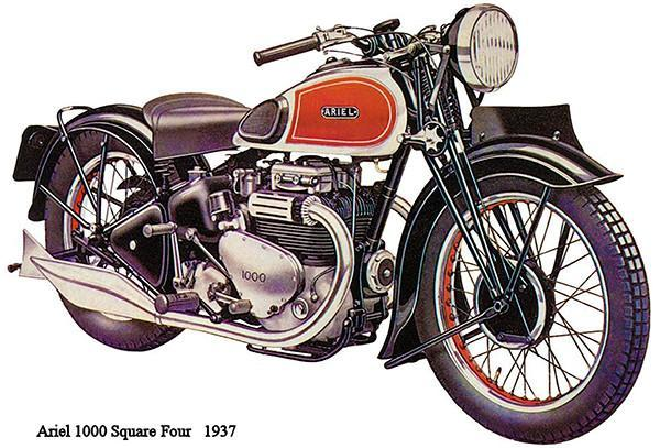 Primary image for 1937 Ariel 1000 Suare Four - Promotional Advertising Poster