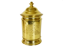 Vintage Heavy Tall Brass Floral Hand Etched Nora Fenton Apothecary Jar C... - $432.00