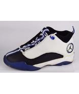 Nike Jordan jumpman youth boys pro quick leather white black varsity siz... - $25.45