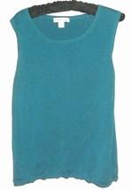 WOMEN'S SLIK BLEND BLUE KNITED TANK SIZE L COLDWATER CREEK - $11.00