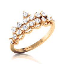 Diamond Eternity Ring Promise Ring For Her Solid 18k Yellow Gold Ring Fr... - $569.99