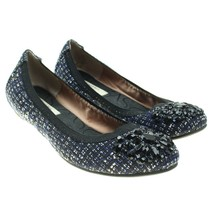Simply Vera Vera Wang Women Sz 7 M Blue Jeweled Ballet Flats - €21,00 EUR