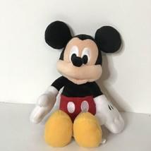 "Disney Store Mickey Mouse Plush Beanie Stuffed Animal 9"" Tall - $19.80"