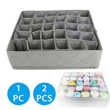 30 Cells Foldable Bamboo Charcoal Underwear Socks Drawer Organizer Stora... - $17.00+