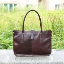 On Sale, Leather Tote Bag for Women, Shoulder Bag, Work & Student Bag, Shopper B image 6