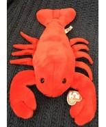 "13"" MWMT Pinchers the Red Lobster Ty Beanie Buddy Buddies 2001 - $11.87"