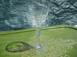 Vintage French Crystal Cristal d'Arques Wine Goblet or Water Glasses 6.5 H - $15.50