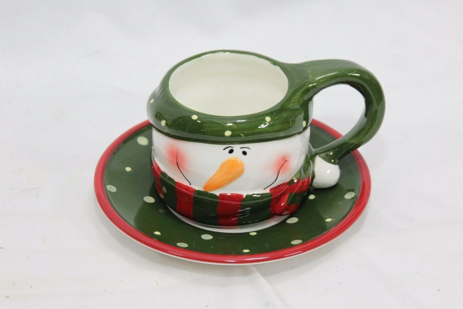 Snowman Xmas 4 Cups and 4 Saucers image 4