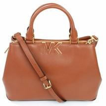 Michael Kors Florence Tan Brown Leather Shoulder Satchel Bag Medium Handbag - $7.342,30 MXN