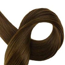 Fshine Tape In Remy Hair Extensions 16 Inch Silky Straight Hair 5A Cold Brown Se image 6