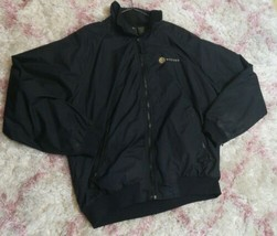 Hartwell Western Bank Men's Zip Up Black Bomber Jacket Sz Large Long Sle... - $44.54