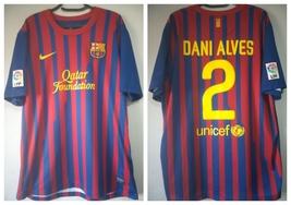 Jersey / Shirt FC Barcelona 2011-2012 Daniel Alves 2 - Nike - Qatar Foun... - $250.00