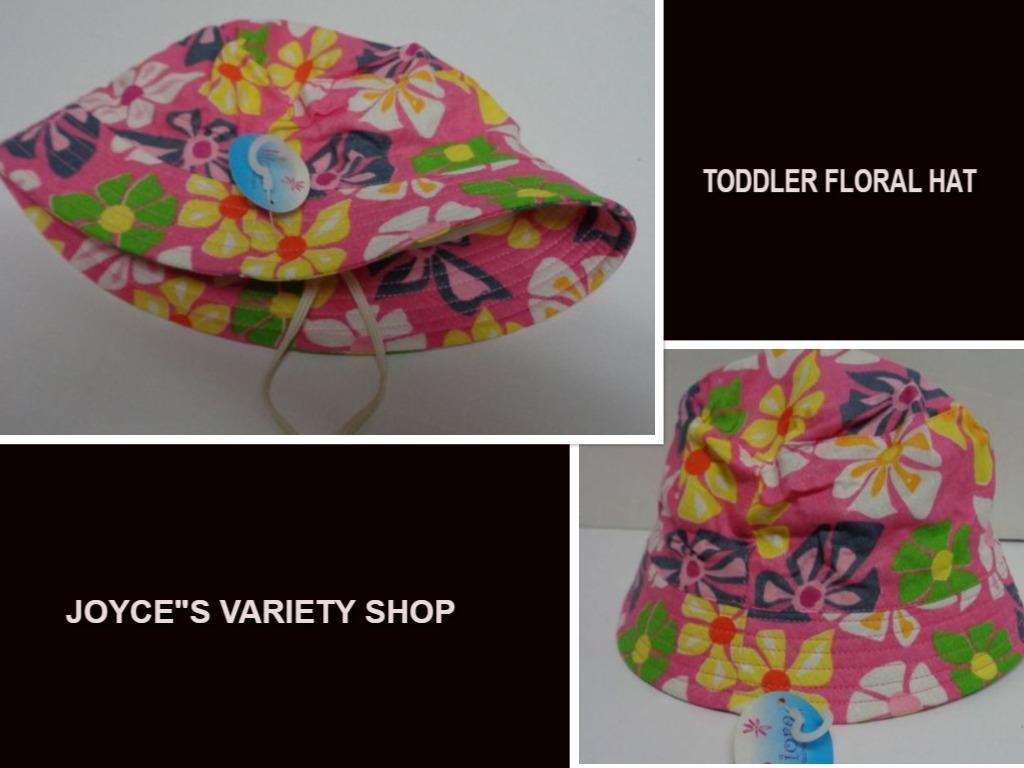 Toddler floral hat collage