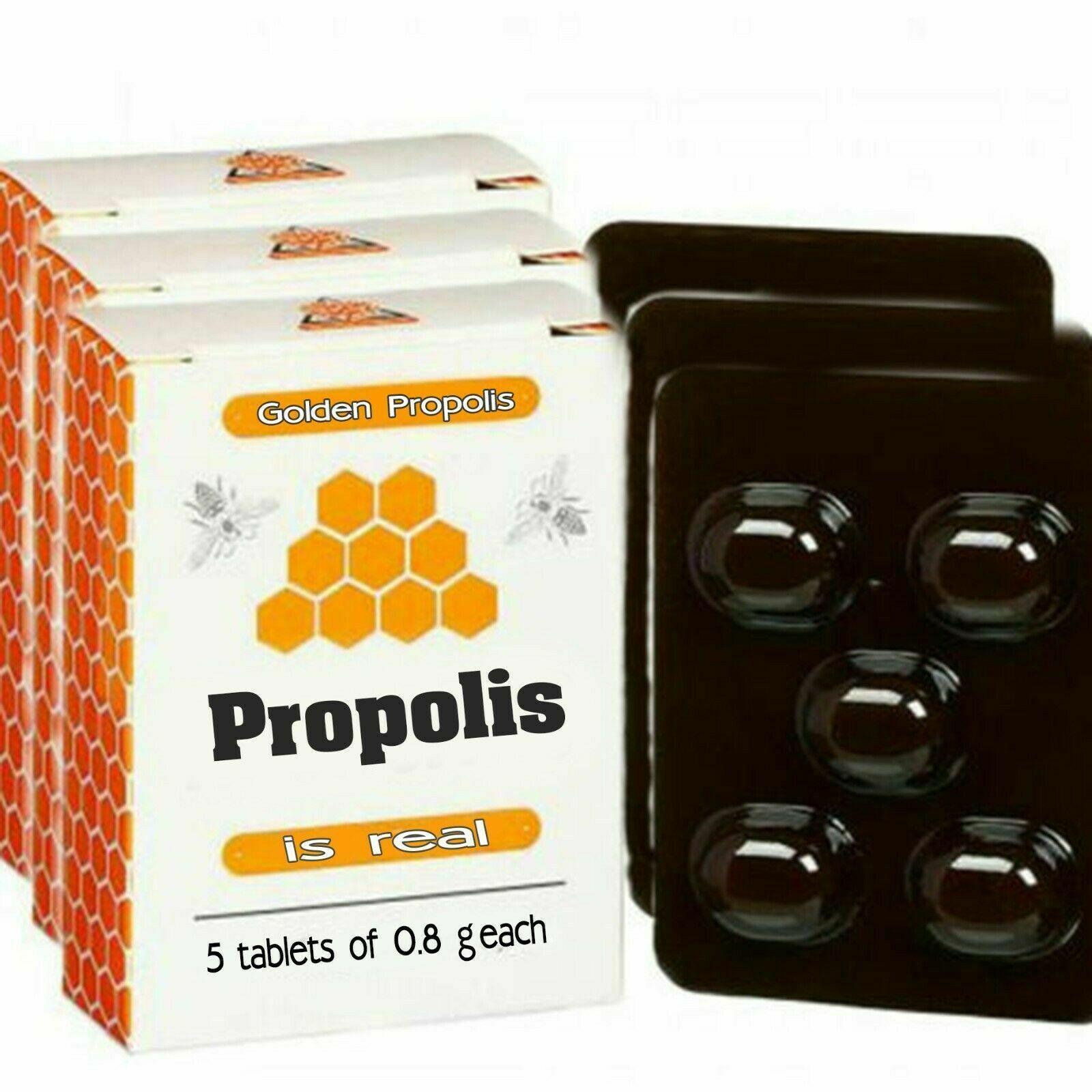 Propolis tablets. 5*4 g=20 gr.100% natural. Altai,Siberia, Russia. - $24.75